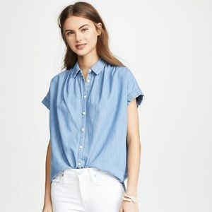 Madewell Chambray Denim Central Shirt Size Small